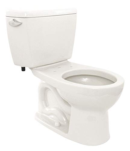 1.6 Gallon Cotton Flush - TOTO Eco Drake Two Piece Tank Toilet, 1.6 Gallons per Flush, Cotton