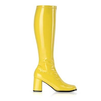 HoneyNutRaisin Suzie gelb, 3 cm Absatz, 60er 70er Jahre