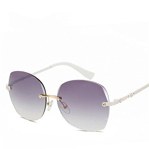 Chahua Les lunettes de soleil, lEurope et élégant sans lunettes de soleil Lunettes de soleil Lunettes de mode la mode du châssis