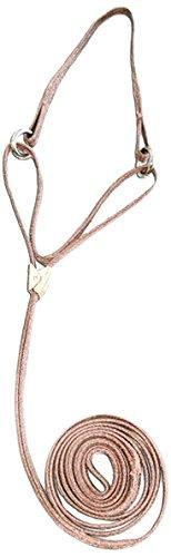 Resco Professional Cordo-Hyde Martingale Lead, 14-Inch Choke Collar, 3/8 by 42-Inch Long, Wheat
