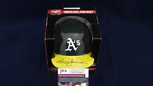 Reggie Jackson Autographed Signed Memorabilia Oakland Athletics Mini Batting Helmet - JSA Wpp244645
