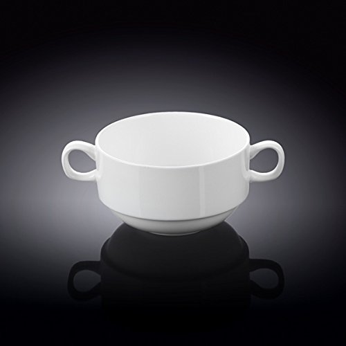 Wilmax 991025 300 ml Soup Cup44; White - Pack of 48