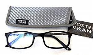 Price comparison product image Foster Grant +1.50 Men's Plastic Rectangular E-Reader Reading Glasses(430)