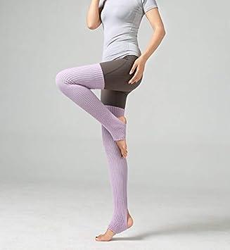 Huertuer Calcetines Largos Calcetines de Ballet para Adultos, Lana, Yoga, Polainas Latinas cálidas