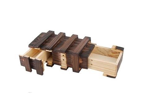 Lowpricenice caja mágica de madera con cajón secreto extra, marrón: Amazon.es: Juguetes y juegos