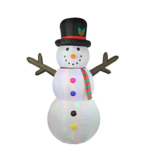- Northlight 8' Inflatable Lighted Twinkle Snowman Yard Art Christmas Decorations, White