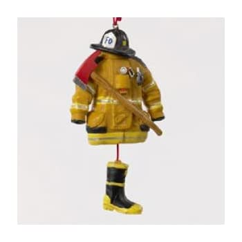 Kurt Adler 4.5- Firefighter Uniform Christmas Ornament - Amazon.com: Kurt Adler 4.5- Firefighter Uniform Christmas Ornament