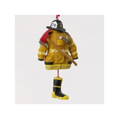 RESIN FIREMAN DRESS ORNAMENT - Christmas Ornament