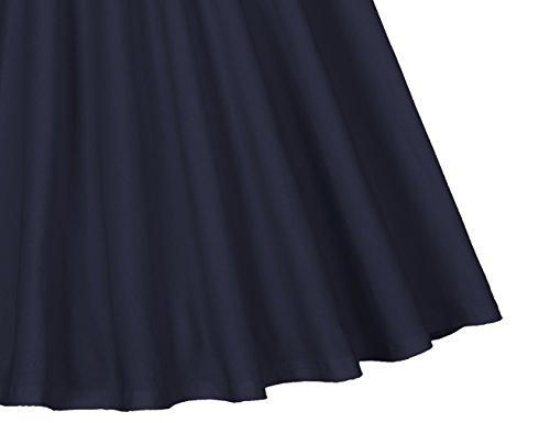 MUXXN Vestido de Oscillación de la Mujer de 1950s del Collar Retro Amor de Cóctel Deep Blue