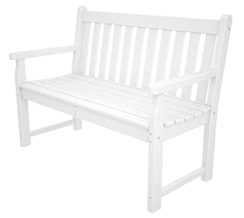 POLYWOOD TGB48WH Traditional Garden 48 Bench, White