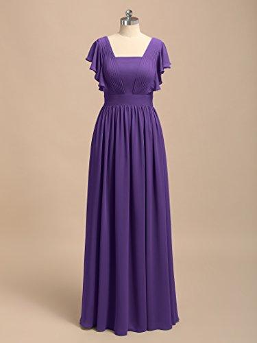 Maxi Alicepub Formal Women's Regency Flutter Chiffon Party Vintage Evening Sleeve Dresses xIxSw0P