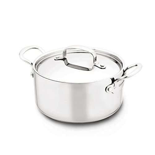 GreenPan Barcelona 3 Quart Triple Layered Stainless Steel Non-Stick Ceramic Covered Casserole