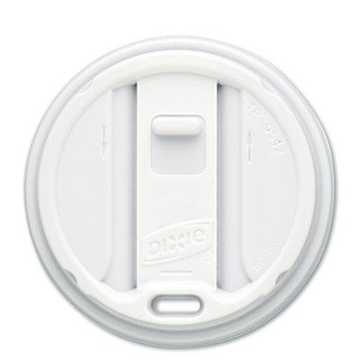 Reclosable Lids for Hot Cup (Pack of 100) (Set of 10) by Dixie