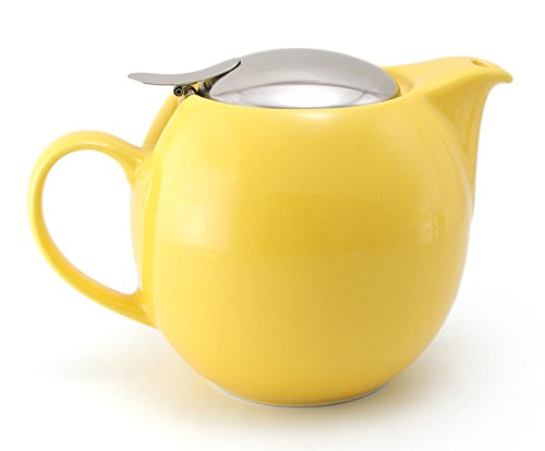 Bee House Ceramic Teapot 26 Ounce Round (Yellow Pepper)
