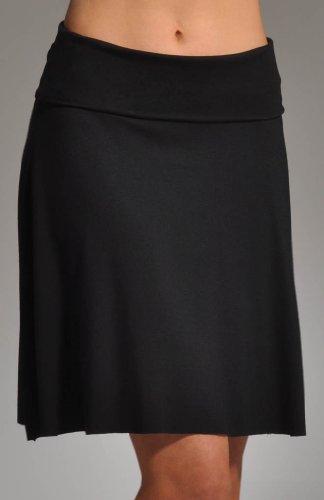Three Dots Red Women's Foldover Skirt, Black, X-Large