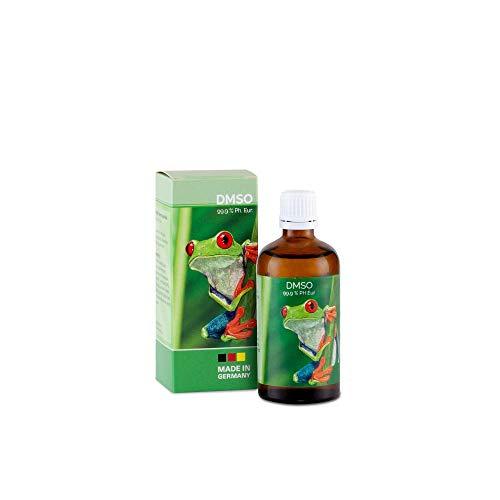 DMSO - 99,9% pharmazeutische Reinheit in der Glasflasche mit Dosierhilfe Ph. Eur. geprüft - unverdünnt - Dimethylsulfoxid hergestellt in Deutschland (100 ml)