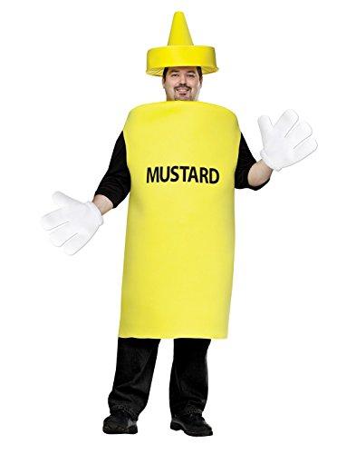 Fun World Men's Plus Size Mustard Squeeze Bottle Costume, Multi, Plus Size