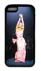 Actress Marilyn Monroe Gentlemen Prefer Blondes Customized Rubber Black iphone 5C Case By customchance Your Best Choice hjbrhga1544