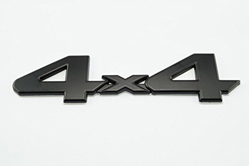 4 X 4 Tailgate (Black 4X4 Emblem/Badge For Truck/Suv/Pickup Rear Tailgate Tail Gate Door 4Wd for Tacoma Tundra)