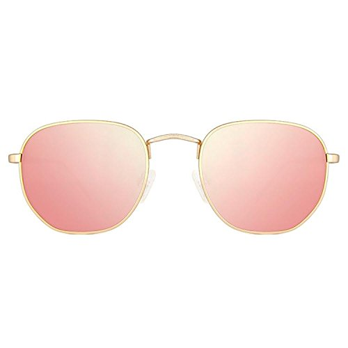 Maltessa Soho Gafas de sol, Dorado/Rosa, 52 Unisex: Amazon ...