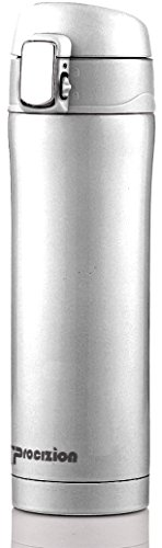 Insulated Stainless Steel Vacuum Flask Travel Mug, Leak Proof Beverage 16 Oz Water Bottle, - Block Steel Stainless Thermo