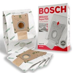 Bosch Part#462544 - Genuine Type G MEGAfilt SuperTEX Vacuum Bag (BBZ51AFG2U) - Fits Bosch Compact Series and Formula Series Vacuums - (Plus Canister Vacuum Bags)