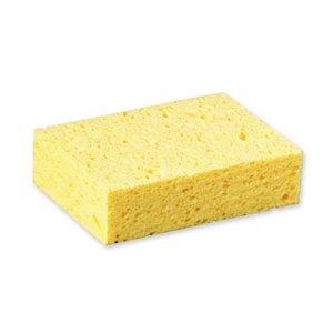 Sponge, 6''L, 4-1/4''W, Cellulose, Yellow