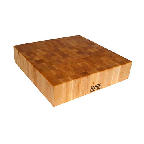 - John Boos Block CCB24-S Classic Collection Maple Wood End Grain Chopping Block, 24 Inches x 24 Inches x 4 Inches