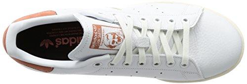 adidas Stan Smith, Scarpe da Fitness Uomo Bianco (Footwear White/Footwear White/Raw Pink)