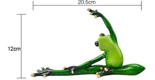 BLUESKYUP Figurines & Miniatures - Home Decoration Kawaii Yoga Frogs Figurine Girl's Dream Modern Resin Home Sculpture Dolls Resin Model Odd Gifts Crafts Animal 1 PCs -