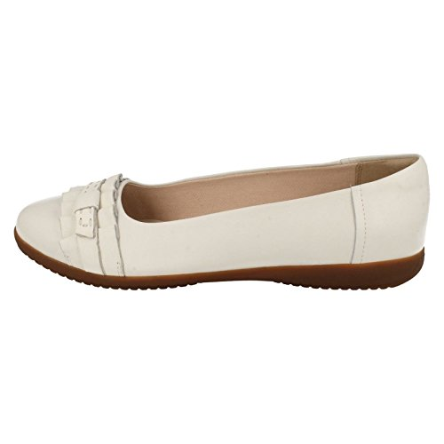 Clarks Feya Island Leather Shoes In White Standard Fit Size 5½ C3ZeKXg