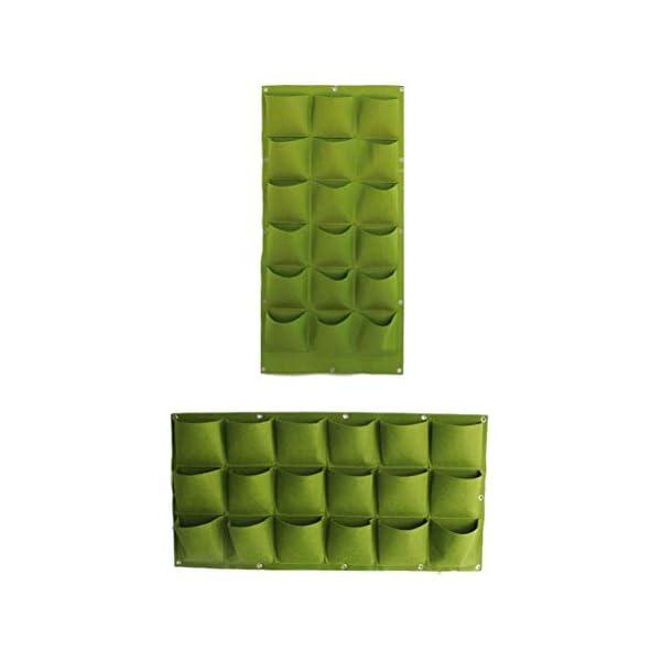 Stylelove Sacco per Piantare Appeso A Parete, 18 Tasche Verde Fioriera per Piantare Fioriera Verticale Giardino Orto… 4 spesavip