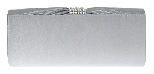 Pleated HandBags bag Girly Satin HandBags Handbag Clutch Diamante Diamante Satin Girly Evening nZBwBAqC