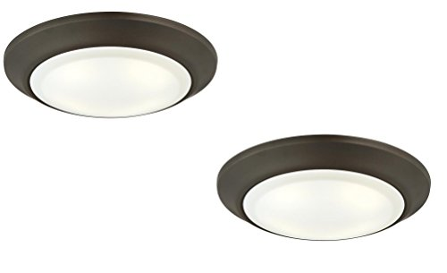 Westinghouse LED Indoor/Outdoor Dimmable Surface Mount Wet Location, Oil Rubbed Bronze Finish with Frosted Lens (Oil-Rubbed Bronze 2 Pack)