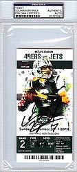 Colin Kaepernick Signed Ticket 1st NFL TD PSA/DNA Authentication Autographed NFL Football Memorabilia