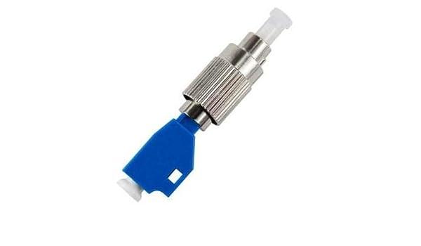 Single Mode 9//125um FC//UPC Male to LC//UPC Female Hybrid Optic Optical Fiber Adapter Adaptor Connector for Optical Power Meter
