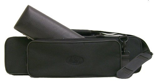 """C"" Flute/Piccolo Combo Case with Shoulder Strap (Black)"