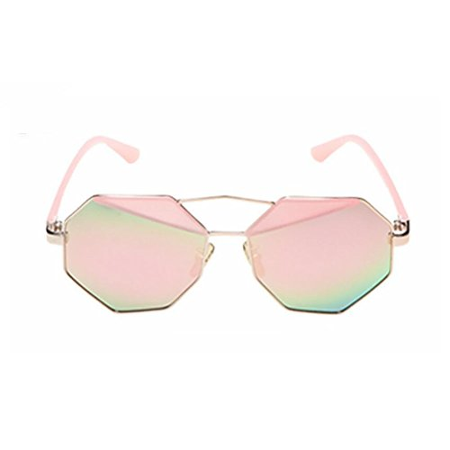 Sol Mens GAOJUAN Gafas Coloridas Creative Driving Sunglasses De Pink Pink Polígono Fashion q0Zdg0nw