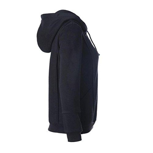 Sudadera Vovotrade Mujeres sudadera con capucha de manga larga Negro