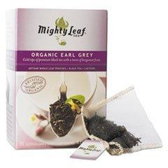 Mighty Leaf Tea Whole Leaf Tea Pouches, Organic Earl Grey, 15/Box by Mighty Leaf Tea (Mighty Tea Loose Leaf Earl Grey)