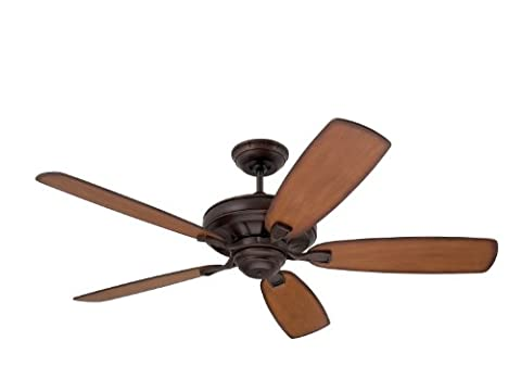 Emerson Ceiling Fans CF788VNB Carrera Grande Eco Indoor Outdoor Ceiling Fan With 6-Speed Wall Control, Energy Star And Damp Rated, Blades Sold Separately, Light Kit Adaptable, Venetian Bronze - Emerson Indoor Fans
