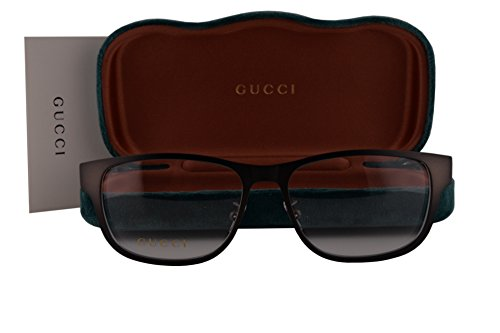 Gucci GG0007O Eyeglasses 55-16-145 Brown 004 GG - Less 4 07 Sunglasses