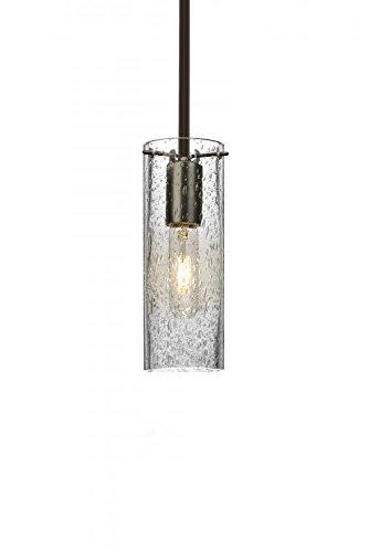 Besa Lighting 1TT-JUNI10CL-BR Juni 10 1 Light Bronze Stem Pendant Ceiling Light ()