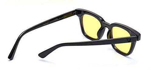 du cercle inspirées lunettes de polarisées métallique retro en vintage rond soleil Lennon Film style Jaune wTvqIftTxr