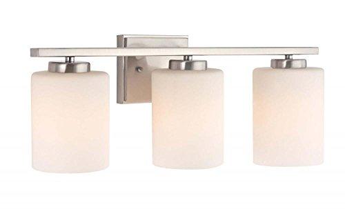 Dolan Designs 3 Light (Dolan Designs 3883-09 Chloe 3 Light bath bar, Satin Nickel)
