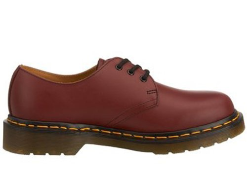 Dr. Martens Womens 1461 W Driekwart Oxford Schoenrood