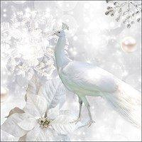Ambiente Napkins Motive: White Peacock - White Peacock, 33x33cm, 3lagig 20 Piece Pack