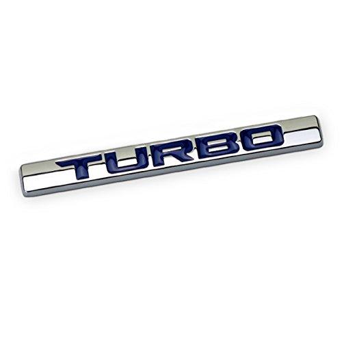Dsycar 3D Metal Car Decoration Metal Adhesive Turbo Truck Car Badge Emblem Sticker for Universal Cars Moto Bike Car Styling Decorative Accessories (Turbo-Blue)