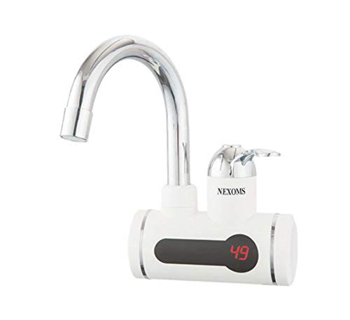 NEXOMS Instant Heating Digital Water Tap Wall Mounted Stainless Steel with 3 Pin Indian Plug (16Amp) – Beware of Unauthorized Sellers, Nexoms Products are Sold by Nexoms India only