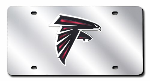 Rico Industries NFL Atlanta Falcons Laser Inlaid Metal License Plate Tag ()